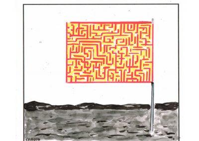 Técnica mixta sobre cartulina. 34x32 cm
